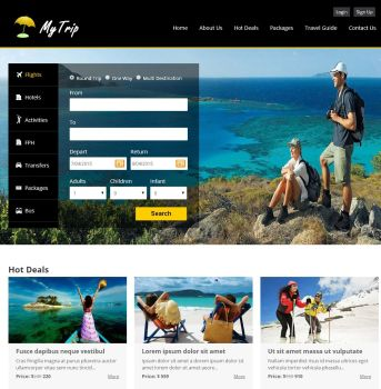 TravelCarma online portal with booking engine